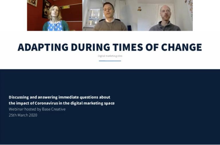 Marketing in times of change webinar