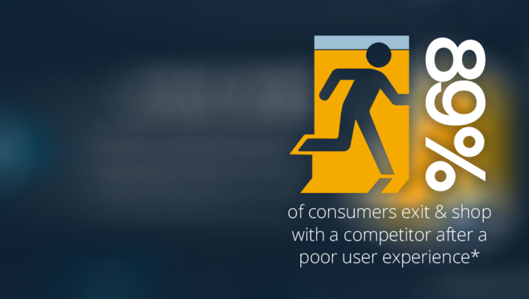 89% of consumers exit and shop elsewhere after a poor user experience